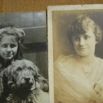 Laura as a girl with a dog, and one taken a bit later
